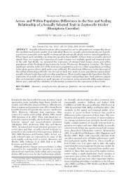 Annals of the Entomological Society of America - University of ...