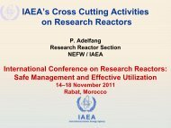 IAEA PECES Research Reactor - Nuclear Sciences and ...
