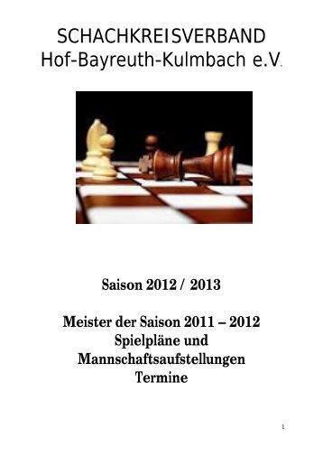 null A-Klasse 2012/2013 - Schachkreise Hof-Bayreuth