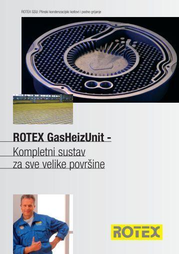 ROTEX GasHeizUnit - Kompletni sustav za sve velike površine