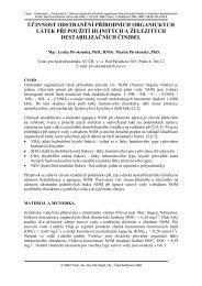 účinnost odstranění přírodních organických látek při ... - W&ET Team