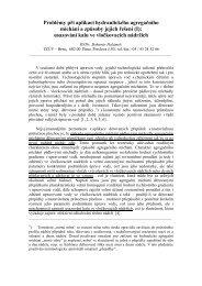 Problémy při aplikaci hydraulického agregačního míchání a ... - smv.cz