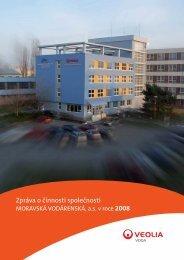 Zpráva o činnosti společnosti 2008