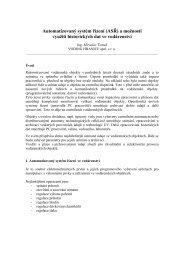 Automatizovaný systém řízení (ASŘ) a možnosti využití historických ...