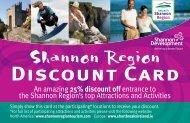 Shannon Region Discount Card