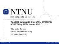 MTIØTEM og MTTK høsten 2010