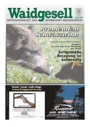 Waidgesell 1/2009 - Braunschweiger Jägerschaft e.V.