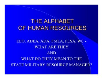 THE ALPHABET OF HUMAN RESOURCES