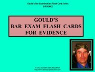 GOULD'S BAR EXAM FLASH CARDS FOR EVIDENCE