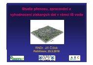 Studie přenosu zpracování a vyhodnocení získaných dat v rámci IS voda