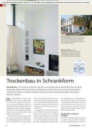 Trockenbau in Schrankform - TrockenBau Akustik