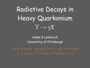 Radiative Decays in Heavy Quarkonium
