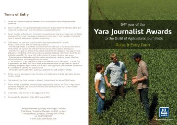 Yara Journalist Awards