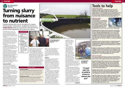 Turning slurry from nuisance to nutrient