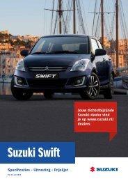 Suzuki Swift specificatieprijslijst 15 juli