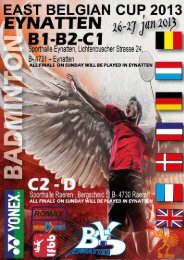 eynatten 2013 europe - Badminton Club Herbesthal