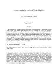 Internationalization and Stock Market Liquidity