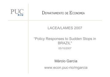 P i - Departamento de Economia - PUC-Rio
