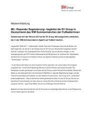 Mit «Rasender Begeisterung - SV (Deutschland) GmbH