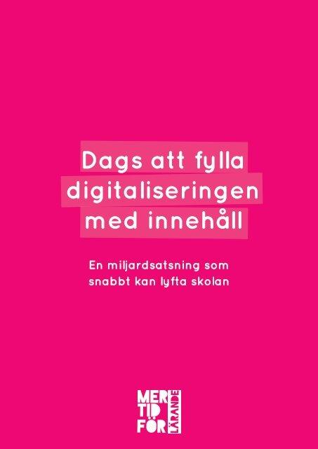 digitaliseringen med innehåll
