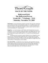 7 Furlongs – 2YO Saturday, November 19, 2005 - Thoro-Graph
