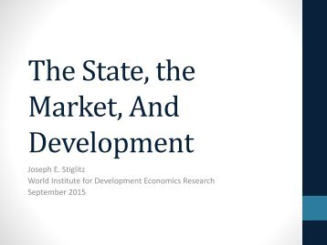 The State the Market And Development
