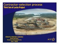 Contractor-selection process Contractor-selection ... - Panama Canal