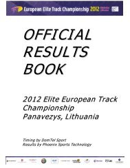 OFFICIAL RESULTS BOOK