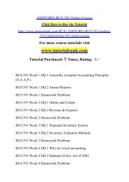 ASHFORD BUS 591 Entire Course/TutorialRank