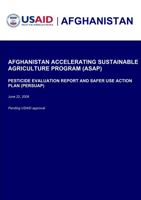 Afghanistan Accelerating Sustainable Agriculture ... - part - usaid