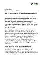Von Hof, Herd und Hand: Lokale Produkte für globale Märkte