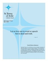 May 12 - St. Teresa of Avila Catholic Parish