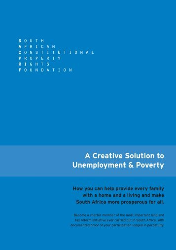 A Creative Solution to Unemployment & Poverty