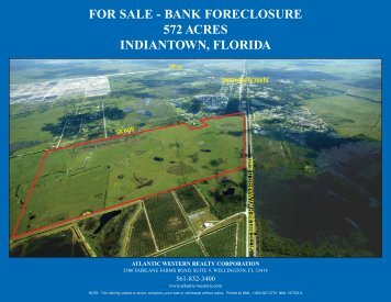 FOR SALE - BANK FORECLOSURE 572 ACRES INDIANTOWN FLORIDA