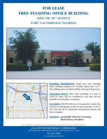 FOR LEASE FREE STANDING OFFICE BUILDING