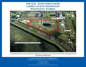 FOR SALE - BANK FORECLOSURE SADDLE CLUB OF WELLINGTON WELLINGTON FLORIDA
