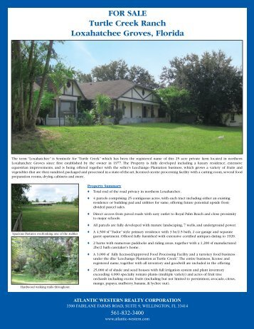 FOR SALE Turtle Creek Ranch Loxahatchee Groves Florida