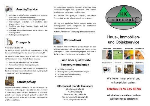 Im Haus Hk Concept Dienstleistungen Rund Um Haus Und Garten