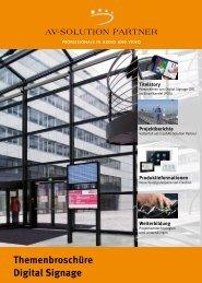Themenbroschüre Digital Signage - PRO VIDEO