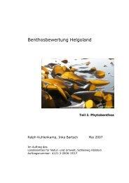 Benthosbewertung Helgoland - BLMP Online