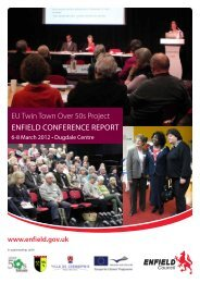 EU Twin Town Over 50s Project Enfield Conference Report