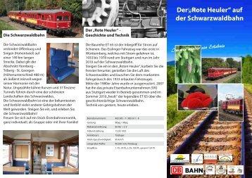 """Der """"Rote Heuler"""" auf der Schwarzwaldbahn"""