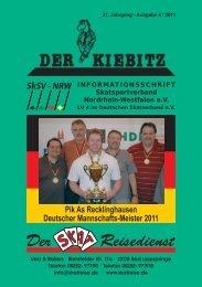 INFORMATIONSSCHRIFT Skatsportverband Nordrhein-Westfalen e.V