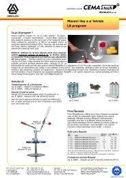Mazací lisy a přístroje LS program