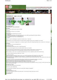 Side 1 af 3 Spilleregler 15-12-2010 http://www.dbujylland.dk ...