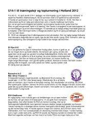U14-1 til træningslejr og topturnering i Holland 2012