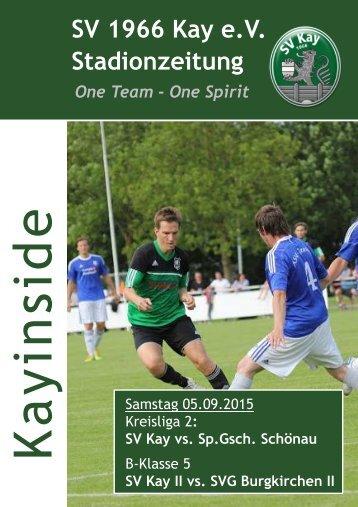 2 Stadionzeitung vs. Schönau u. Burgkirchen II