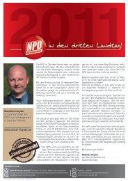 Sachsen-Anhalt Matthias Heyder Spitzenkandidat der NPD zur ...
