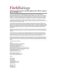 'B/C'; Affirms Long-term IDR at 'AA'/Stable Ratings - Fitch Ratings ...