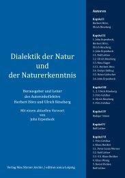 Dialektik der Natur und der Naturerkenntnis